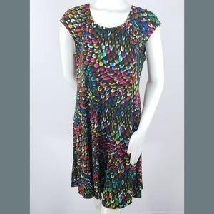 Gabby Skye Dress 10 Multicolor Jewels Gemstones